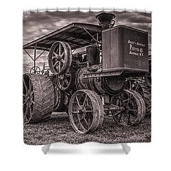 Buffalo Pitts Steam Traction Engine Shower Curtain