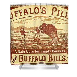 Shower Curtain featuring the photograph Buffalo's Pills Vintage Ad by Gianfranco Weiss