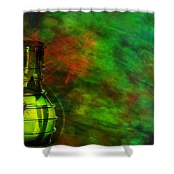 Shower Curtain featuring the mixed media Bugs by Ally  White