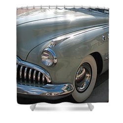 Buick Roadmaster Shower Curtain by Connie Fox