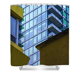 Building Abstract No.1 Shower Curtain