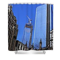 Building Freedom Shower Curtain by Sarah Loft
