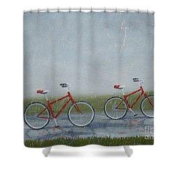 Building Friendship Shower Curtain