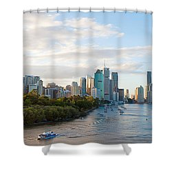 Buildings At The Waterfront, Brisbane Shower Curtain