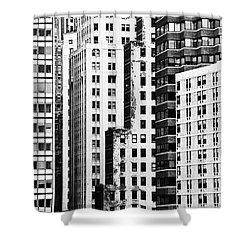 Buildings Bw Shower Curtain by Bruce Bain