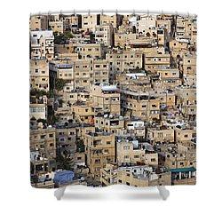 Buildings In The City Of Amman Jordan Shower Curtain by Robert Preston