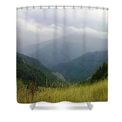 Bulgaria  Rodope Mountain Shower Curtain