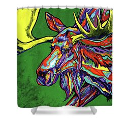 Bull Moose Shower Curtain by Derrick Higgins