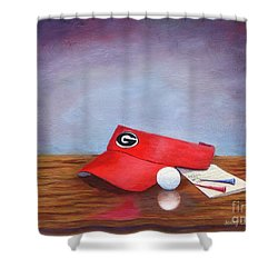 Bulldog Golf Shower Curtain