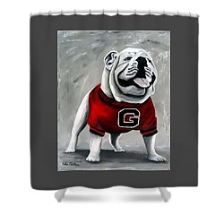Uga Bullog Damn Good Dawg Shower Curtain