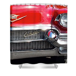 Bullet Bumpers - 1956 Cadillac Shower Curtain