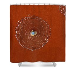 Bullet Hole Patterns Shower Curtain