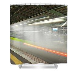 Bullet Train Shower Curtain by Sebastian Musial