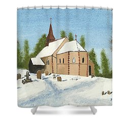 Bulley Church Shower Curtain