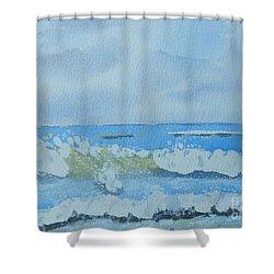 Bulli Beach Shower Curtain by Pamela  Meredith