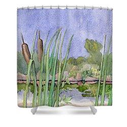 Bullrushes Shower Curtain