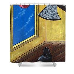Bully Shower Curtain by Sandra Marie Adams