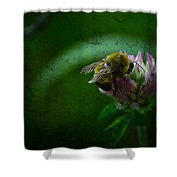 Bumble Bee Tattered Wings Art 2 Shower Curtain