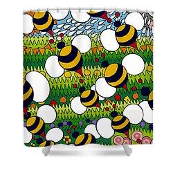 Bumble Shower Curtain by Rojax Art