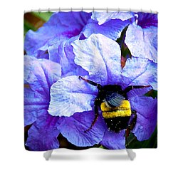 Bumblebee Brunch Shower Curtain