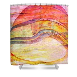 Bumped Wine Barrel Shower Curtain by PainterArtist FIN