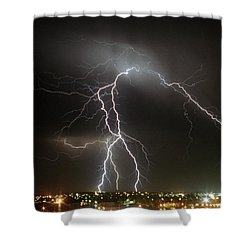 Bunbury Lightning Shower Curtain
