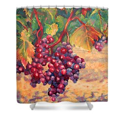 Bunch Of Grapes Shower Curtain