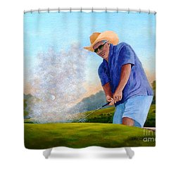 Bunker Shot Shower Curtain