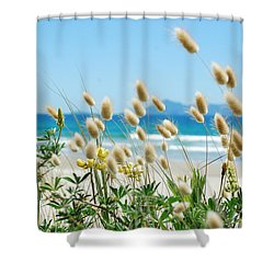 Bunnytails Sea Grass Shower Curtain