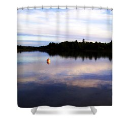 Buoy On The Torch Bayou Shower Curtain by Michelle Calkins