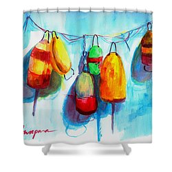 Colorful Buoys Shower Curtain
