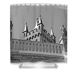 Burg Hohenzollern Shower Curtain by Carsten Reisinger