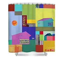 Burger Joint #3 Shower Curtain by Elena Nosyreva