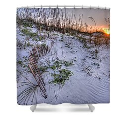 Buried Fences Shower Curtain by Michael Thomas