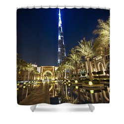 Burj Khalifa Swoard Shower Curtain by John Swartz