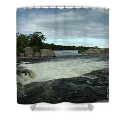 Shower Curtain featuring the photograph Burleigh Falls by Barbara McMahon