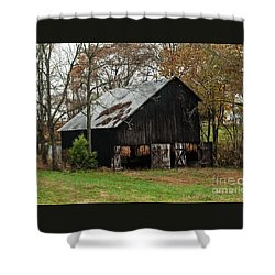 Shower Curtain featuring the photograph Burley Tobacco  Barn by Debbie Green