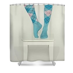 Burlington Socks Shower Curtain by Joana Kruse