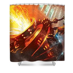 Burn Shower Curtain by Ryan Barger