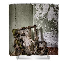 Burned Shower Curtain by Margie Hurwich
