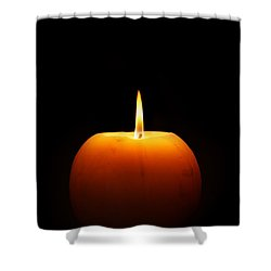Burning Candle Shower Curtain by Johan Swanepoel