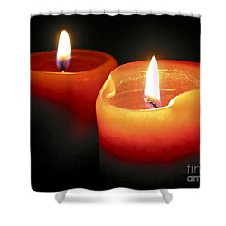 Burning Candles Shower Curtain by Elena Elisseeva