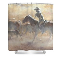 Burning Daylight Shower Curtain by Mia DeLode