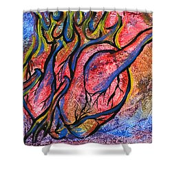 Burning Hearts Shower Curtain