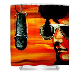Burning Love  Shower Curtain by Mark Moore