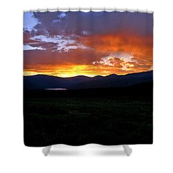 Shower Curtain featuring the photograph Burning Of Uncertainty by Jeremy Rhoades