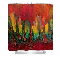 Burning Sensation Abstract Shower Curtain by Julia Apostolova