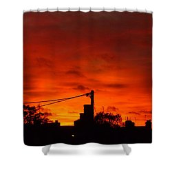 Burning Sky Shower Curtain by Vicki Spindler