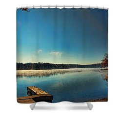 Burning Water Shower Curtain by Rick Friedle