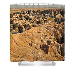 Burns Basin Overlook Badlands National Park Shower Curtain